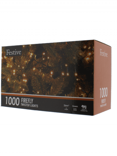 Festive - 1000 Firefly lights - warm white, outdoor living and garden lighting