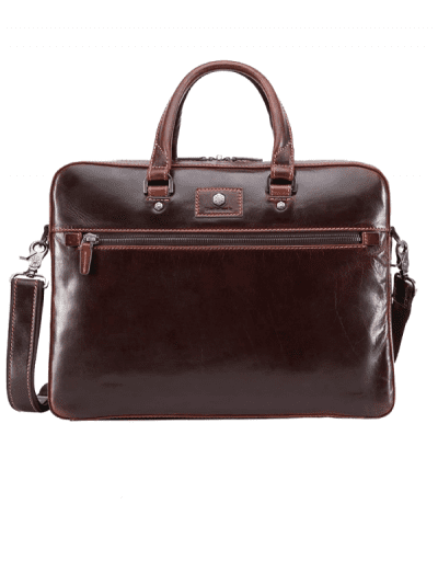 Jekyll & Hide - slim zip top briefcase - tobacco