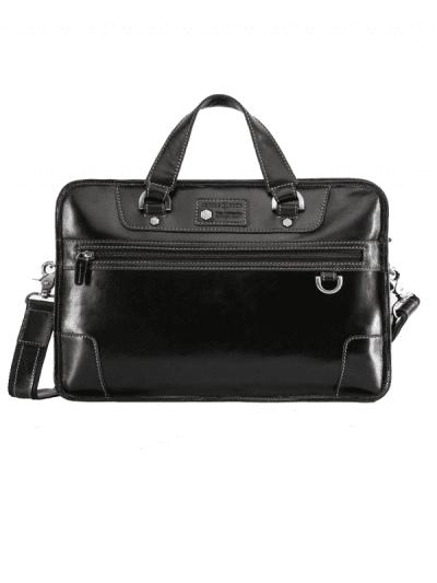 Jekyll & Hide - medium laptop briefcase - black