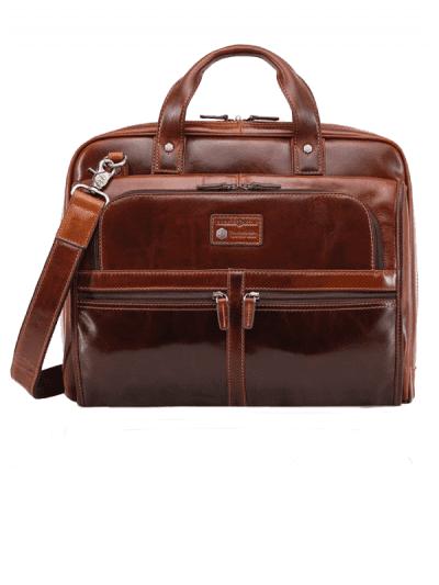 Jekyll & Hide - large briefcase - tobacco