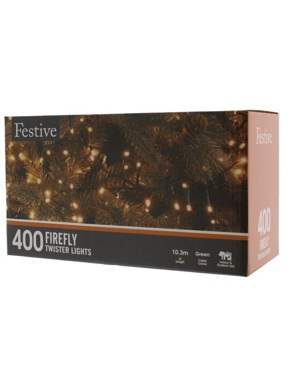 Festive - 400 Firefly lights - warm white