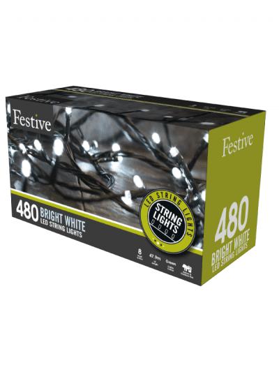 Festive - 480 timer string lights - bright white