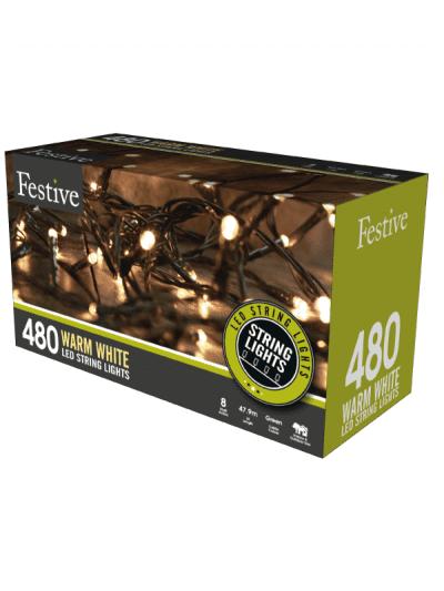 Festive - 480 timer string lights - warm white
