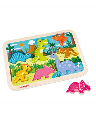 Janod - wooden dinosaur puzzle