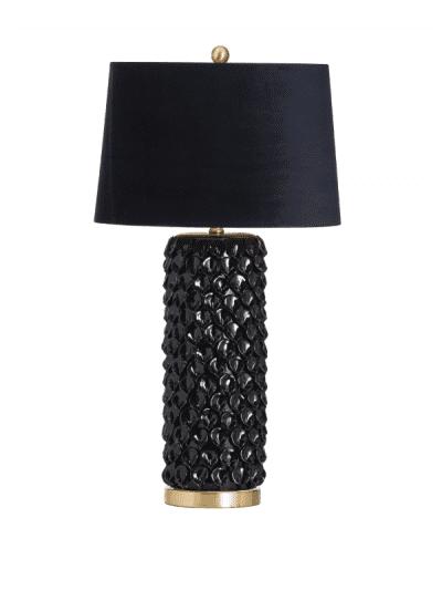 Hill Interiors - barbro table lamp with black shade, homeware