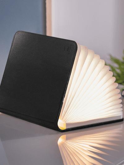 Black large smart book light in home