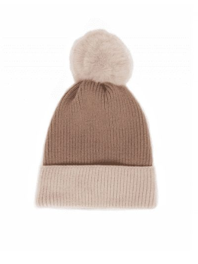 Powder hat - stone & cream