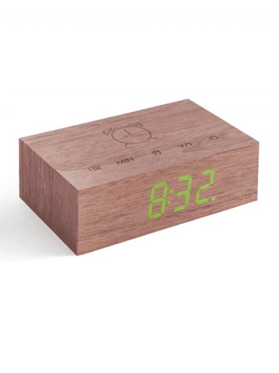 Gingko - flip clock - walnut
