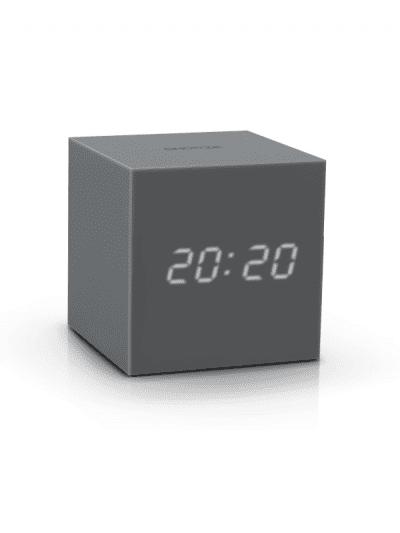 Gingko - cube clock - grey