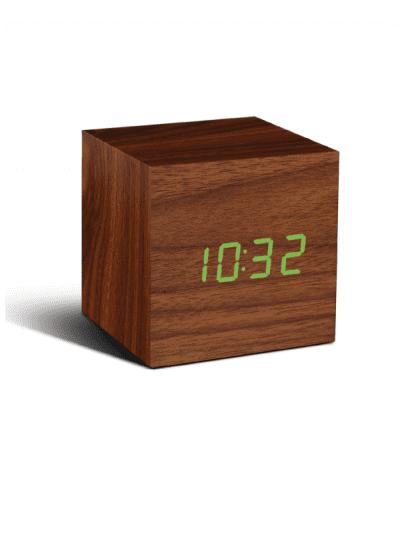 Gingko - cube clock - walnut