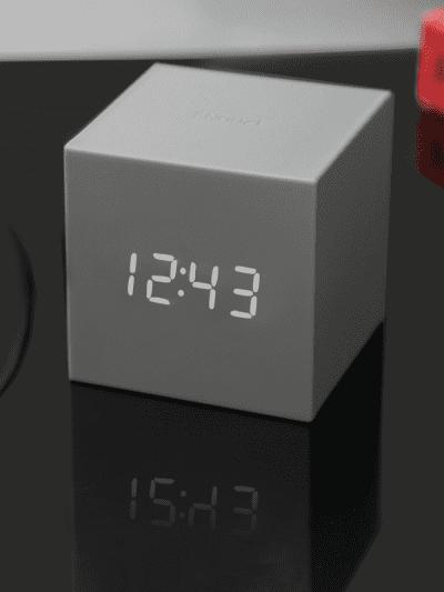 grey cube clock, gifts