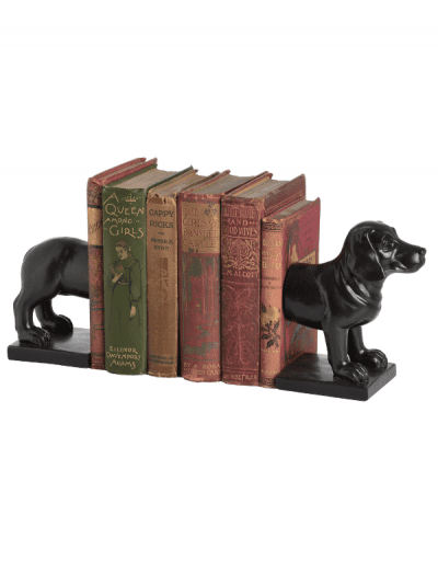 Hill interiors - dog book ends, holding books