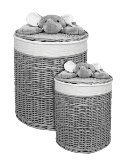 Bambino wicker elephant laundry baskets