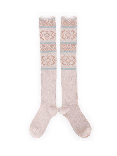 Powder fair isle long socks
