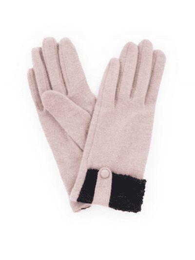 Powder dusky pink wool gloves