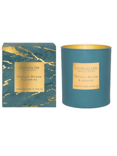 StoneGlow - papyrus woods & jasmine candle