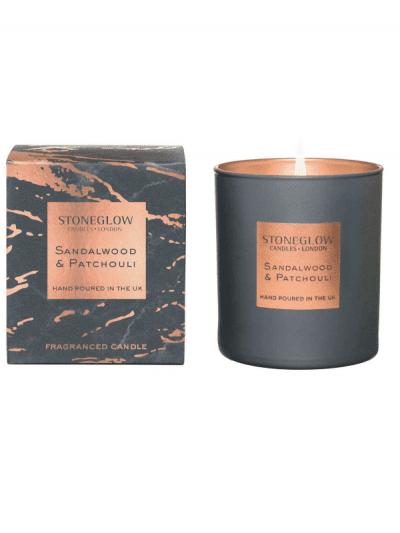 StoneGlow - sandalwood & patchouli candle
