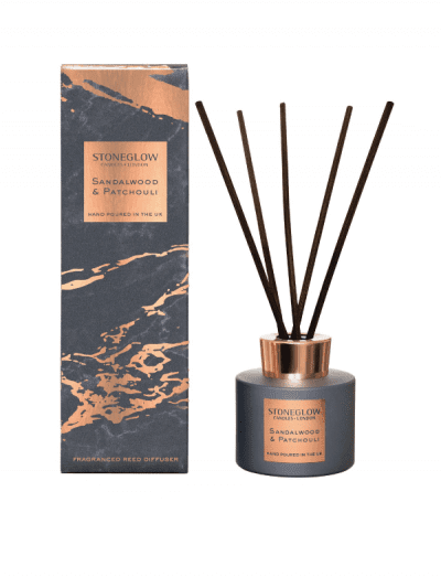 StoneGlow - sandalwood & patchouli reed diffuser