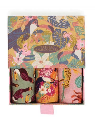Powder toucan sock gift box