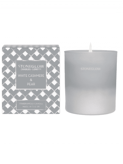 StoneGlow - cashmere and pear candle