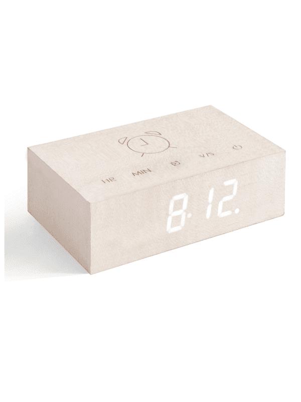 Gingko - flip clock - white maple
