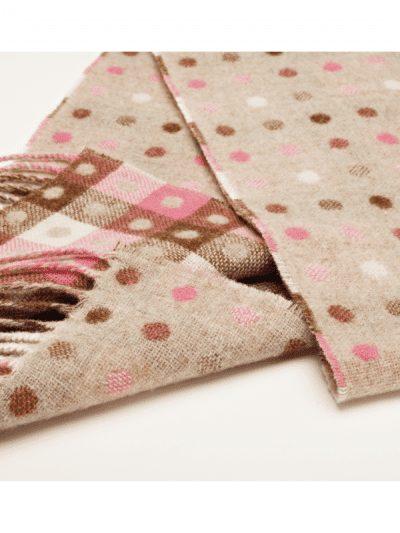 Bronte by Moon - Multi spot scarf - beige pastel