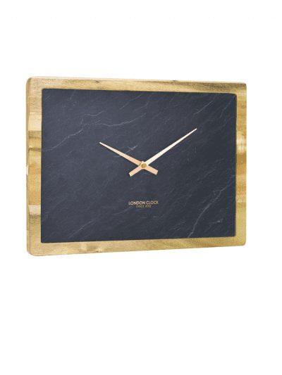 London Clock - carbon rectangle wall clock