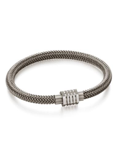 Fred Bennett - grey woven steel bracelet