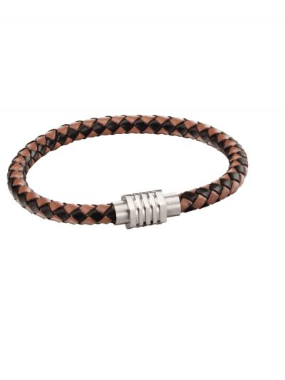 Fred Bennett - brown hexagonal woven bracelet - brown
