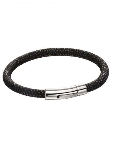 Fred Bennett - Blue Leather textured bracelet