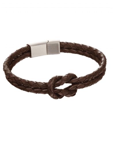 Fred Bennett - double row knot bracelet - brown