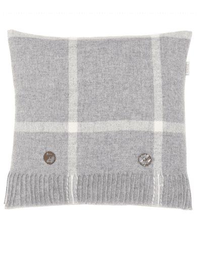 Bronte by Moon - windowpane cushion - grey