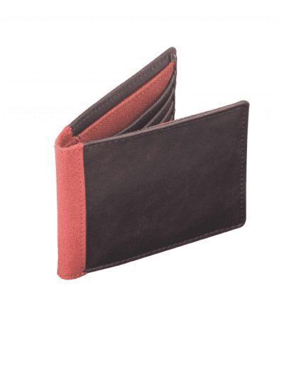 Jacob Jones wallet - brown & orange