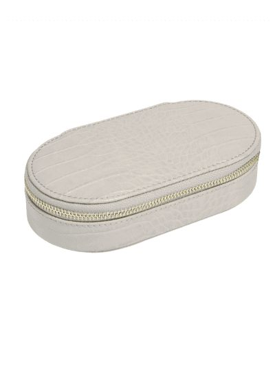 Stackers - oval travel jewellery box - putty
