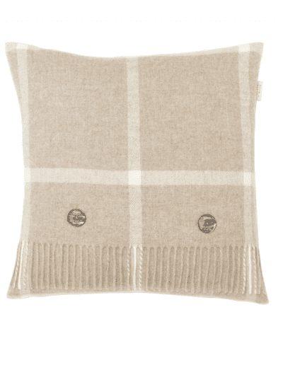 Bronte by Moon - windowpane cushion - beige