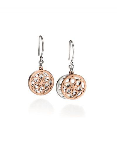 Fiorelli - gold plated cutout earrings