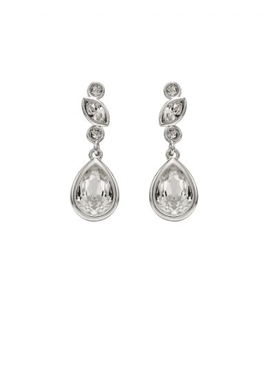 Elements Silver - crystal drop earrings