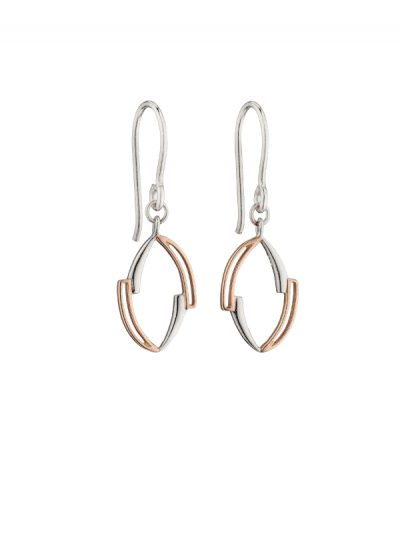 Fiorelli - rose gold & silver earrings