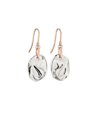 Fiorelli - crinkle silver earrings