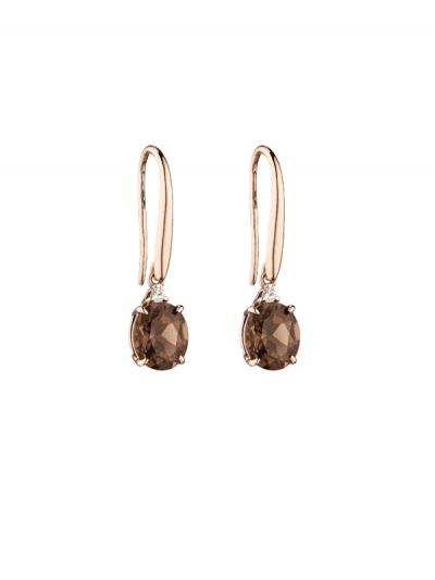 Elements Gold - smokey quartz earrings