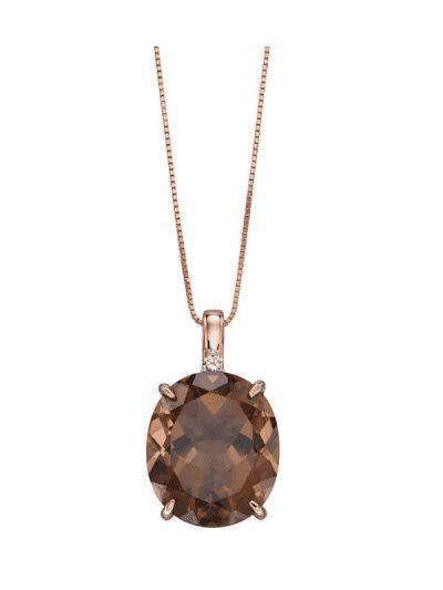 Elements Gold - smokey quartz pendant