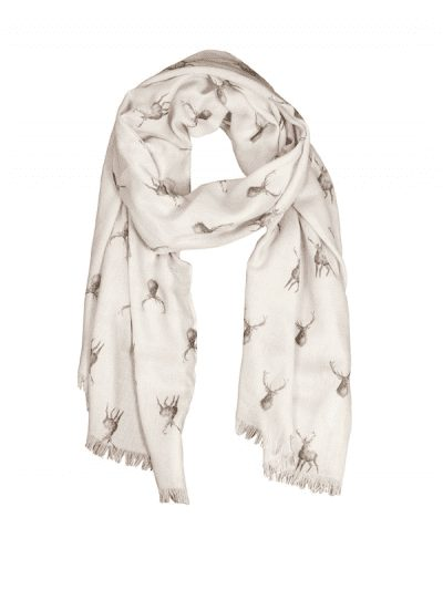 Wrendale stag scarf