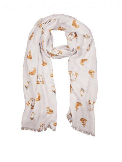 Wrendale fox scarf