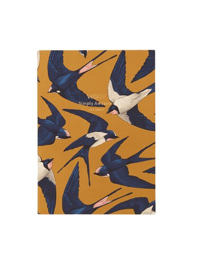 Wouf - A6 notebook - swallows