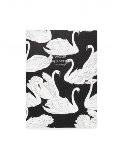 Wouf - A6 notebook - swan