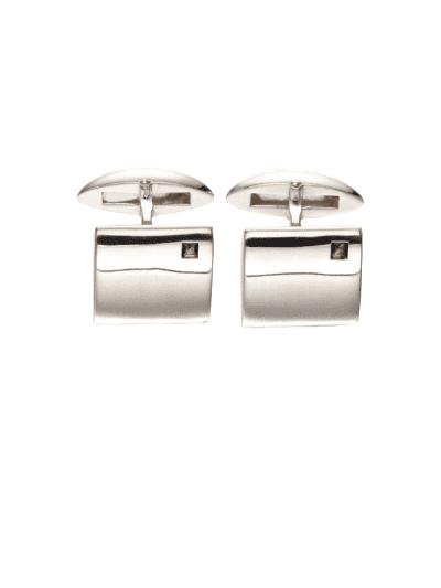 Fred Bennett - square quartz sterling silver cufflinks