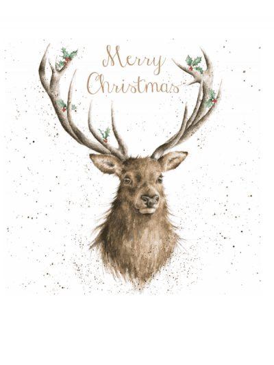 Wrendalke Christmas card set - stag