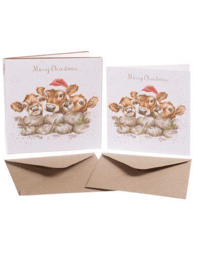 Wrendale Christmas card set - Christmas calves