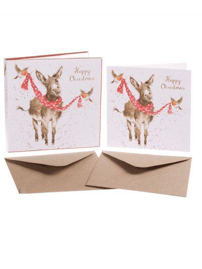 Wrendale - Christmas card set - donkey