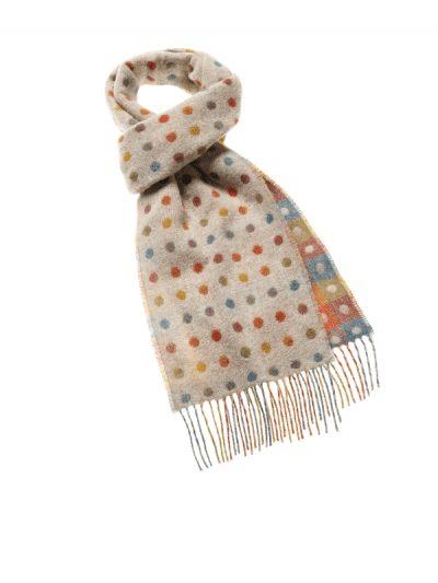 Bronte by Moon - multi spot scarf - beige
